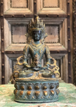 Bronze statue of Amitabha Buddha - Buddha of light, representing ultimate bliss